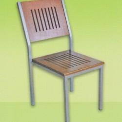 Platin Kolsuz Ahşap Alüminyum Sandalye