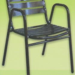 Zümrüt Boyalı Kollu Alüminyum Sandalye