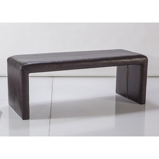 Special Bench Deri Siyah Puf