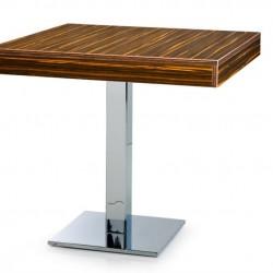 Kare Sac Ayaklı Kalın Kenarlı Cafe masası 70 x 70