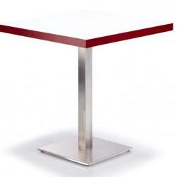 Paslanmaz Çelik Ayaklı High Gloss Cafe Masası 70 x 70