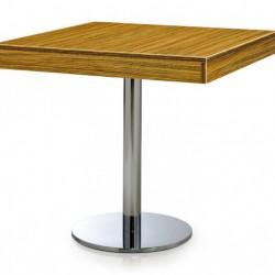 Yuvarlak Sac Ayaklı Kalın Kenarlı Cafe Masası 70 x 70