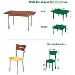 Efes Metal Mutfak Masası Takımı