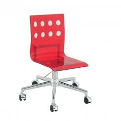 Kırmızı tekerlekli ofis sandalyesi S-471