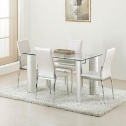 Platin Sandalyeli Yemek Masası