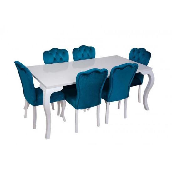 Elit Beyaz Yemek Masa Takımı