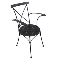Ferforje Kollu Sandalye Metal Oturak