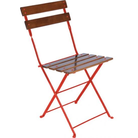 Katlanır Sandalye Kestane Ahşap 5502
