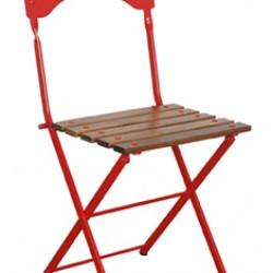 Katlanır Sandalye Metal Sırt