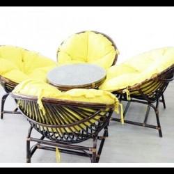 Güneş Bambu Masa Takımı
